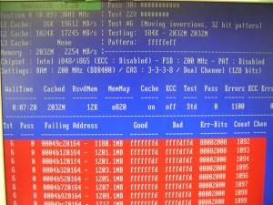 Memtest86+の画面