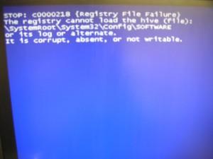 STOP:c0000218のブルースクリーン