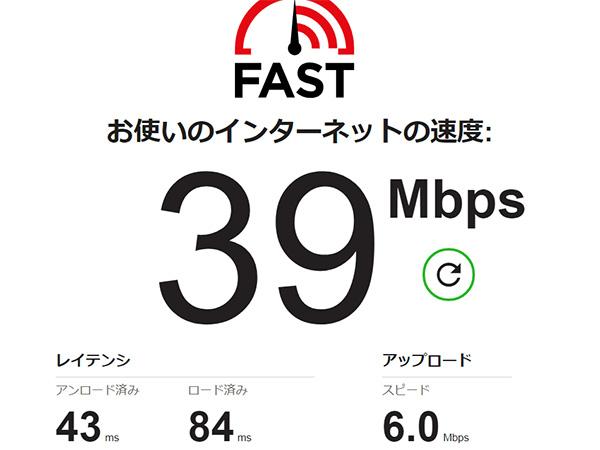 ちゅピCOM Air-LANの回線速度テスト4